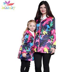 Belababy primavera autunno marca impermeabile antivento neonate giacche bambino cappotto bambini tuta sportiva colorata ragazza vestiti