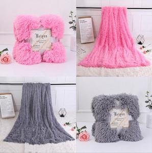 Нечеткие одеяла длинные лохматый бросить одеяла теплый пушистый одеяло твердые лохматый покрывало свадебные постельные принадлежности 11 цветов 160*130 см YW1571