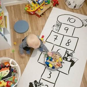 INS Cartoon Kids Tappeti per bambini Stampato Infant Kid Adventure Tappetino da gioco Crawling Ispessimento Tappetini sportivi per neonati in cotone