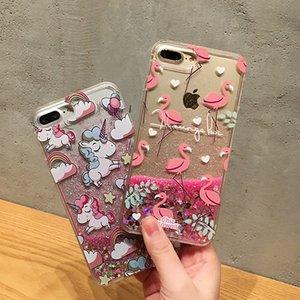 Iphone için X 6 7 8 artı durumda lüks telefon kılıfı quicksand dondurma yumuşak silikon tam koruma Dinamik sıvı glitter kılıfları