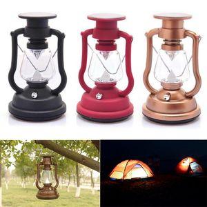 7 LED-Solarlicht Tragbare DC Solar-Handkurbel Lade Camping Lichter im Freien wasserdichten Wandern Camping Angeln Zelte Lampe