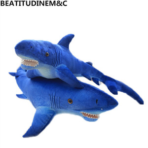 Nova Simulação Tubarão Azul Brinquedo de Pelúcia, Boneca, Travesseiro, Brinquedos para Crianças, Presente criativo, Decoração de Casa 59 cm