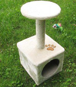New 60*30*30cm Cat Tree Tower Condo Scratcher Furniture Kitten Pet House Hammock BED