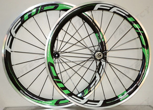 Di 700C 50mm lega profondità di superficie frenante ruote carbonio strada bici wheelset 23 millimetri di larghezza graffatrice lega rim rivestimento 3k lucido