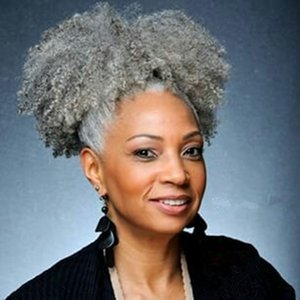 Brazilian Hair Grey Puff Afro Pferdeschwanz Haarverlängerung Clip in Remy Afro Kinky lockige Kordelzug Pferdeschwanz graues Haarteil 100g 120g