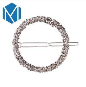 M MISM New Barrettes Accessoires de cheveux de femme Perles de cristal Round Rhinesrone Hairpins Pince à cheveux géométrique pour les filles