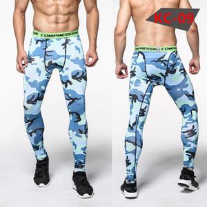 Yeni Spor Skinny Gym Erkek Pantolon Spor Pantolon Koşu Tayt Erkekler Sıkıştırma Tayt Egzersiz Leggings Koşu