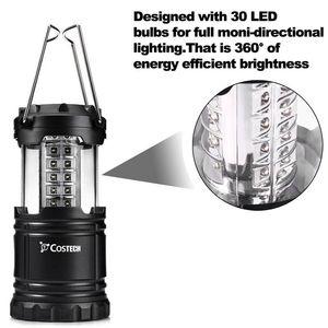 Katlanabilir 30 LED Fenerler Led Çim Bahçe Lambası Yolu Duvar Işık Süper Parlak Açık Kamp Çadır Işık 2018 iyi