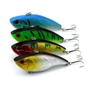 Hengjia Vib Balıkçılık Lures 20 adet / grup 4 renkler 7.5 CM 14.6G (VI004) Oyun vibe Krank Sert yemler Titreşim Balıkçılık Lure Yemler