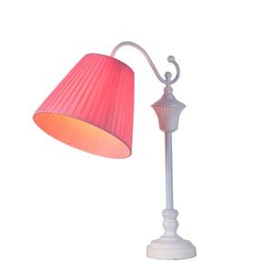 OOVOV simple Tela Princess Room Desk lámpara linda Girls Room Tabla luz de la habitación Sala de estar lámparas de escritorio