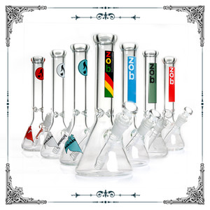 "Edizione limitata 2018 Nuovo Zob Hitman Mini Boccolo Bong Bong Glass 10 ""Rasta Piccola base Base Ice Acqua Pipes 18.8mm DAB Oil Rig Bongs Tubo fumatori"