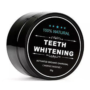 5 Star Bamboo Activated Organic Charcoal Coconut 100% Natural Teeth Whitening powder 30g free DHL shipping