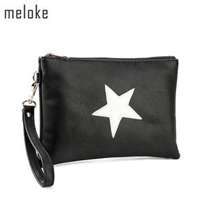 Meloke 2018 haute qualité étoiles en cuir sacs à main occasionnels étoiles embrayage sacs à main pour filles téléphone sacs mode été MN721