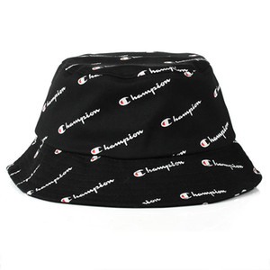 2018 hot Fashion Men Women Hot Champion Bucket Hat marca Outdoor Boonie Cap Unisex Summer Beach Hat Envío gratis