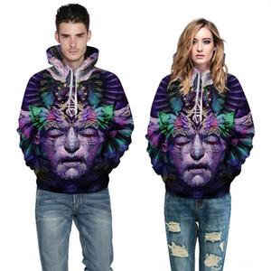 2018 autumn and winter new Seraph Doodle Unisex Realistic 3d Digital Pullover Hot Sale Sweatshirt Hoodie Hooded Sweatshirt