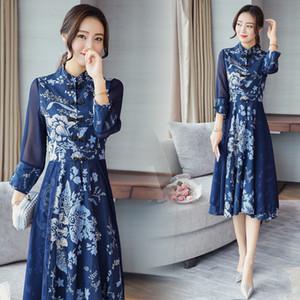 2018 лето китайский вечернее платье невесты хвост тост свадьба cheongsam красный длинный qipao традиционный Ци ПАО