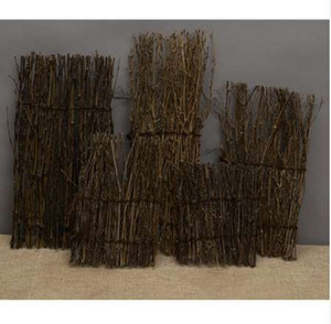 자연 정원 울타리 화면 분배기 테두리 대나무 Slat 리드 Brushwood 롤 27x11cm 소형 홈 가든 분재 장식