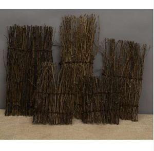 Natural Garden Fence Screen Divisore Border Bamboo Slat Reed Brushwood Roll 27x11cm Miniature Home Garden Bonsai Decor