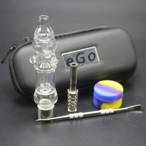 Nouveau Kit NC 510 Fil Mini-verre d'eau Bangs tuyaux avec Jar silicone Nail titane cire Dabber EGO Fermeture Éclair