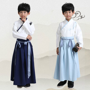Children Traditional Chinese Clothes Boys Hanfu Costume Ancient Scholar Vintage Cosplay Clothing Stage Performance Costume
