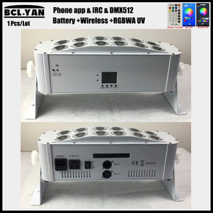 Nueva brillante 12x18W RGBWA UV Wireless DMX batería Led Wall Washer Light DMX Wifi LED barra Uplight iOSAndorid