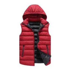 Новые мужские куртки без рукавов жилеты большой размер L-4XL зима толстый теплый человек повседневная мода жилет Жилет хлопок мягкий