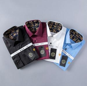 2018 브랜드 남성 비즈니스 캐주얼 셔츠 남성 긴 소매 스트 라이프 슬림 맞는 masculina 사회 남성 티셔츠 새로운 패션 남자 체크 셔츠 # 8913