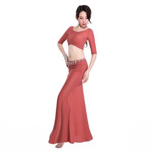 벨리 댄스 퍼포먼스 슈트 새로운 오리엔탈 댄스 긴 드레스, 초보자의 요정 드레스.