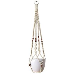 Neues Design Hängen Macrame Plant Hanger Pflanzer Halter Korb Für Garten Blumentopf Dekoration Baumwolle Seil 35 Zoll (89 cm)