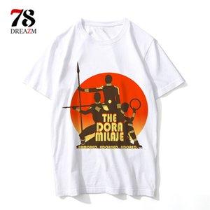 Camisa de T homens moive dos desenhos animados legal engraçado camiseta branca impressão T-shirt dos homens camisa