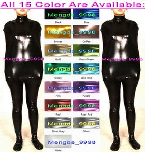 Sexy 15 Color Shiny Lycra Metallic Mummy Suit Catsuit Costumes Sleeping Bags Unisex Mummy Catsuit Costumes Sleeping Bags Body Bags M331