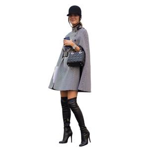 PADEGAO Cloak Style Fashion Windbreaker 2017 Autunno Inverno Cappotto da donna Linea Impero
