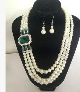 رائع الماس الزفاف الكريستال مجموعة قلادة الخواتم 15.5) dghfhg