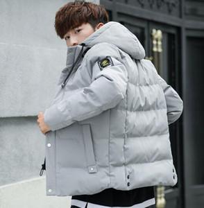 Nuovo cappotto 2018 autunno e inverno giovani uomini taglia corpo e cappello corto giacca di cotone stile coreano cappotto maschile