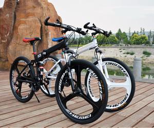 26 дюймов Складной горный велосипед 27 скорость двойной демпфирования 3/6 нож колесо велосипед двойной дисковые тормоза горный велосипед