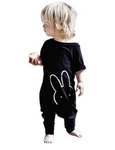 2020 Fashion Baby Clothes Black Cool Baby Rompers Newborn Clothes Boy Girl Clothing Set Toddler Suit Short Sleeve Outfits