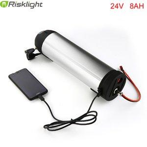 No hay impuestos 24V 8AH E-bici de la batería de 24V 8AH Li-ion con un agua de botella de caja y el puerto USB