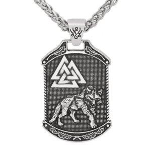 мужчины nordic viking odin волк Валькнут узел ожерелье