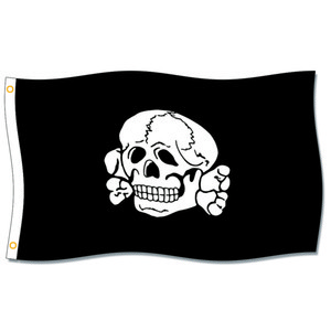 [Good Flag] Totenkopf Fahne Flags 3X5FT 150X90CM 100% Polyester,Canvas Head with Metal Grommet,Used Indoors or Outdoors