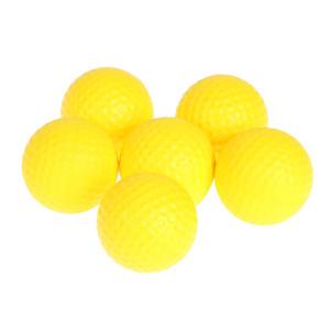 Formación Práctica 6pcs Campo de la PU de la bola interior Entrenamiento Principiante Softbol amarillo redonda Campo de bola de los deportes pelotas de golf Nueva