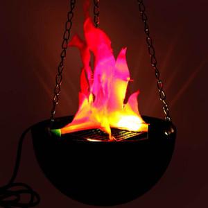 1 pcs Brazier Lampe Simulation Flamme Suspendue Et Type De Bureau 20cm 30cm Pour Noël Halloween et Décorations De Fête
