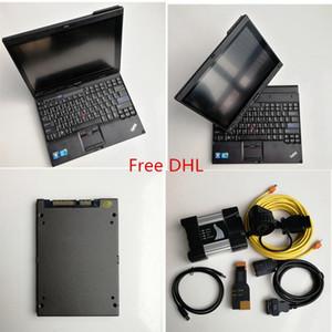 Высокое качество Авто ремонт Диагностика Инструмент ICOM Следующий A + B + C Для BMW 720GB SSD + портативный ноутбук X201T I7 4G / 8G