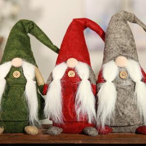 Экологичный С Рождеством Эльф плюшевые куклы Фаршированные Санта-Клаус Усы Модель Куклы Игрушки Детский праздник подарок Xmas Украшение Домашнее украшение