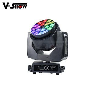 USA Warehouse Big Bee Eyes LED Beam Lave Mover Head Light con zoom 19x15W RGBW 4IN1 DMX LED DJ Disco Light para Iglesia