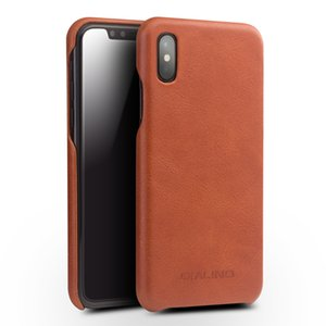Qialino Ultra Slim High Quality Case For Iphone X Design Flip Fashion Luxury Phone Cover For Iphone X Real Genuine Leather