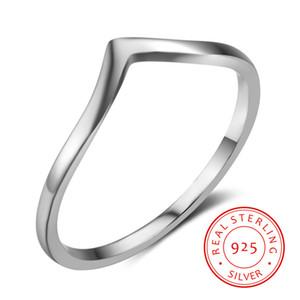 Kadınların son V şekli parmak için 2019 yüksek kaliteli ucuz moda takı basit 925 gümüş yüzük gençler için yüzük yüzük