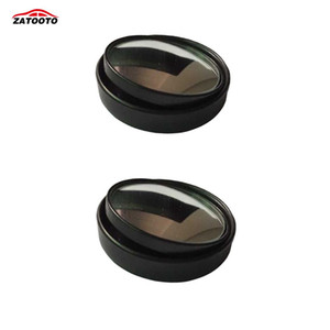 2 pcs * Nuevo auto de alta calidad de gran angular convexo para automóvil Punto ciego redondo - Palo en el espejo retrovisor Vista lateral Espejo ajustable