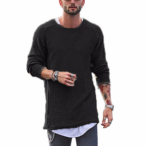 2017 Autumn Winter Fashion Brand Clothing Men's Sweaters O-Neck Solid Color Slim Fit Cool Men Pullover 6 Colors Optional #258907