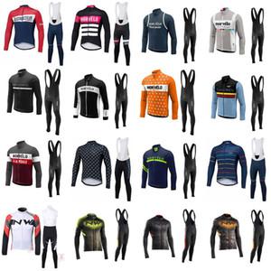 2020 Nuovo Morvelo traspirante lunga da uomo manica primavera / autunno della squadra Jersey di riciclaggio bici Bib Long Pants Set Ropa Maillot Ciclismo C626-126