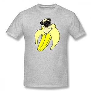 Custom Graphic Banana Pug T Shirt Plus Szie Casual Homme Tee Shirt Summer For Man Casualboy Pure Cotton Tee Shirt